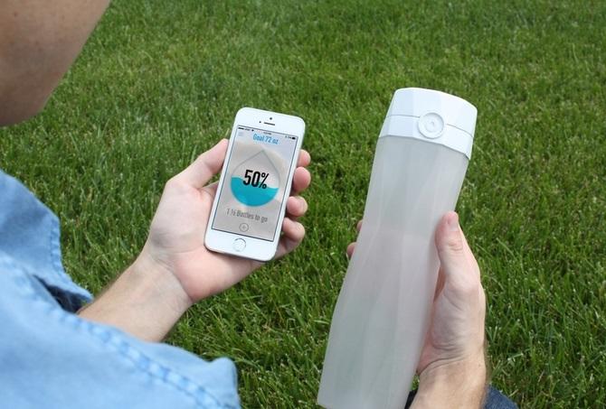 botella de agua inteligente