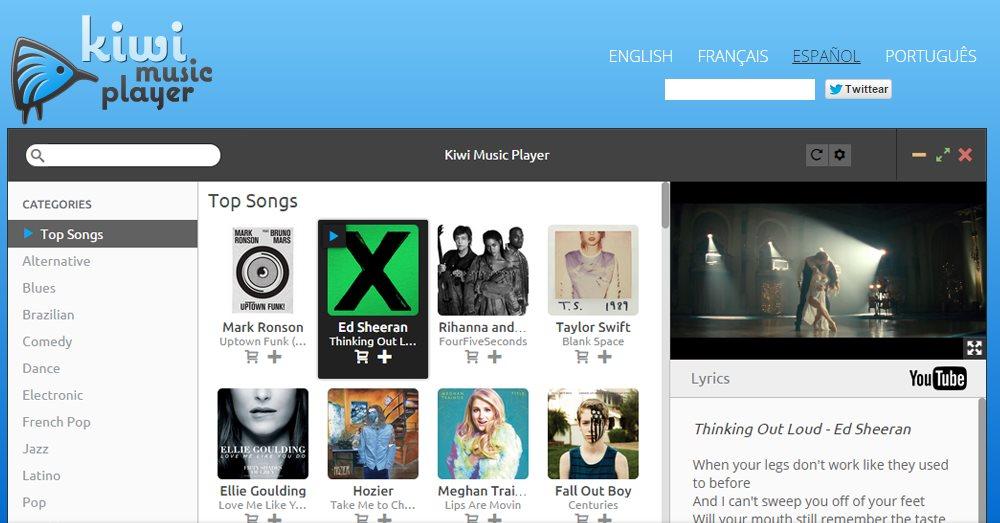 Kiwi Music Player, un programa para escuchar música gratis desde Windows y Mac