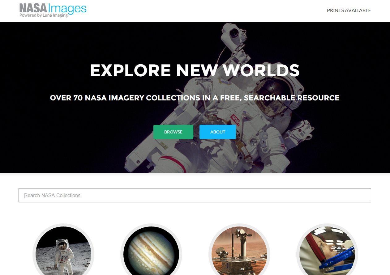 Una web para navegar por más de 100.000 fotos de la NASA