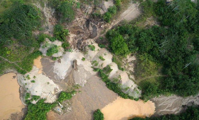 Minerí­a ilegal en el Amazonas capturada por un dron | Max Messinger, Wake Forest University