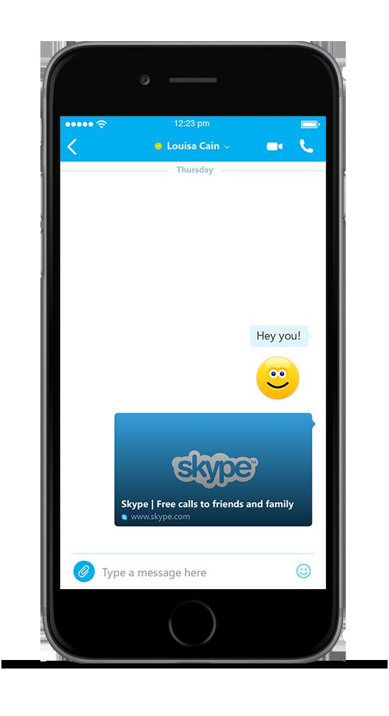 Skype para iPhone ahora permite previsualizar contenidos de los enlaces compartidos