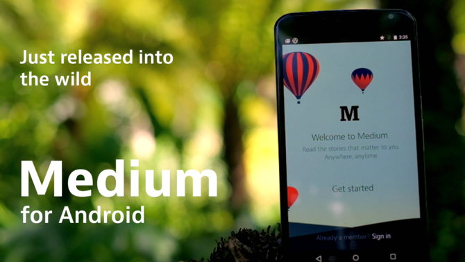 medium para android