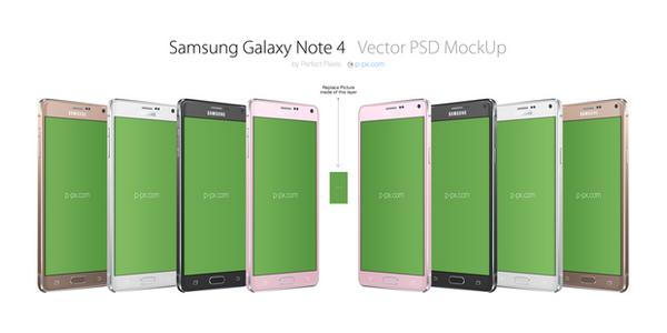 Mockup De Un Samsung Galaxy Note 4 En PSD