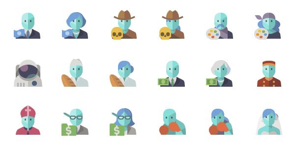 People Icons: Un Set De Iconos Planos Para Diferentes Profesiones