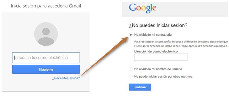 recuperacion gmail