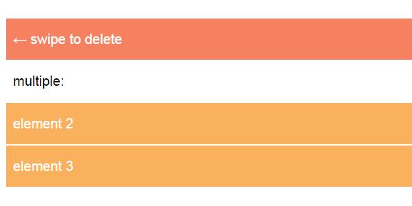 Swiped.js: Una Librería De JavaScript Para Arrastrar Elementos De Listas