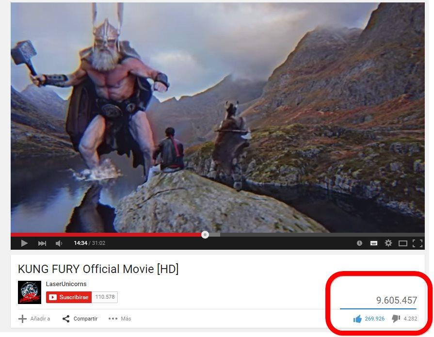 KUNG FURY, la película de Youtube que está batiendo récords