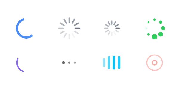 Un Set De Gráficos De Precarga En CSS