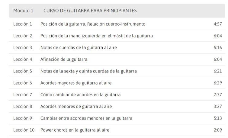 2 cursos online gratuitos para aprender guitarra