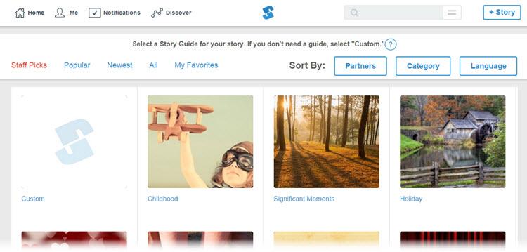 Storypress, una manera simple de crear historias con fotografías y videos