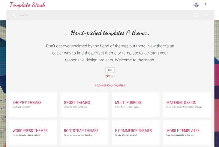 Template Stach, colección de las mejores plantillas y temas gratuitos para sitios web
