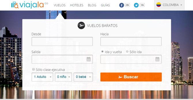 Viajala.com, buscador de vuelos y hoteles baratos para ... - photo#42