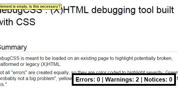 Herramienta De Depuración De HTML Hecha En CSS