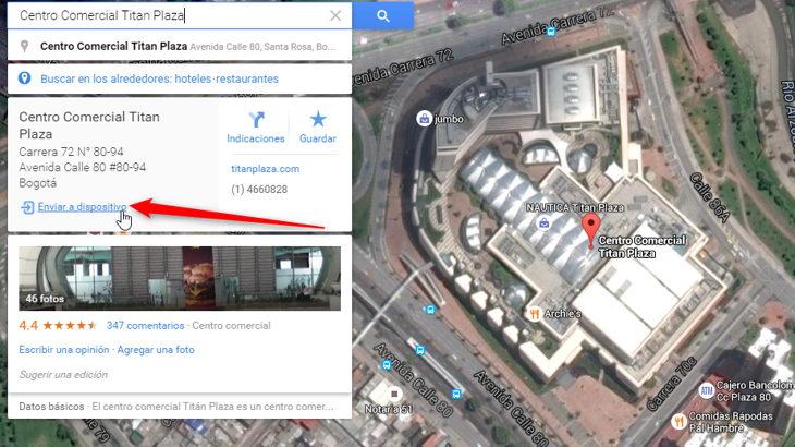 Ya puedes enviar lugares e indicaciones de Google Mapas para PC a un Android