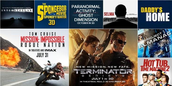 Recientes películas de la Paramount: Sitio web Paramount.com