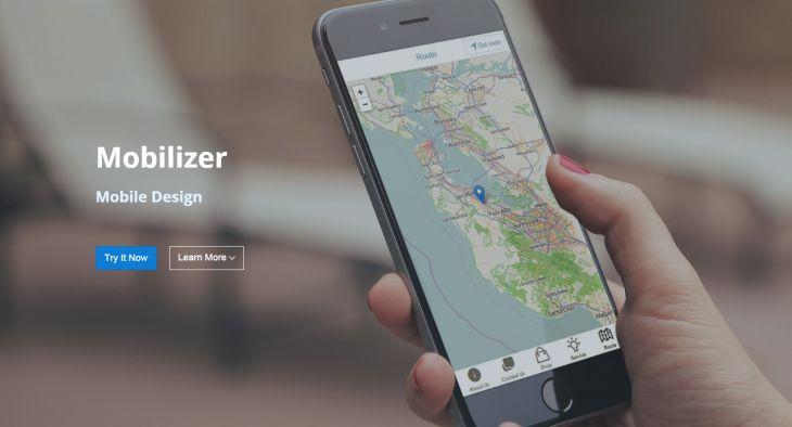 Mobilizer, para crear sitios web móviles en minutos de manera visual