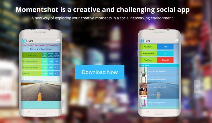 Momentshot Aplicacion Social Movil De Desafios De Preguntas Y Respuestas