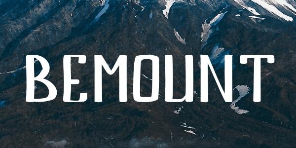 Bemount: Una Fuente Con Caracteres Latinos Y Rusos