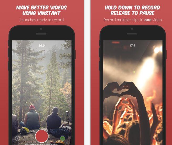 Vinstant, un grabador de vídeos para iPhone que vale la pena conocer