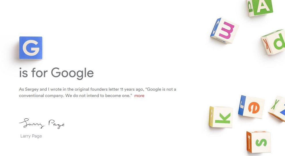 Larry Page deja de ser CEO de Google para crear otra empresa: Alphabet