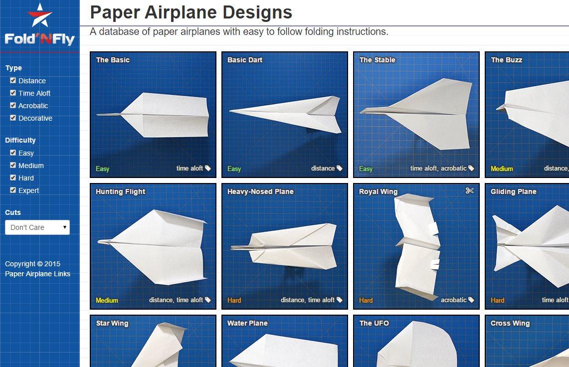 Sitios ideales para aprender a hacer aviones de papel