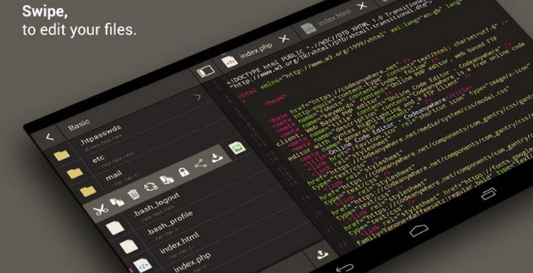 5 editores de código Android para seguir programando en tu móvil