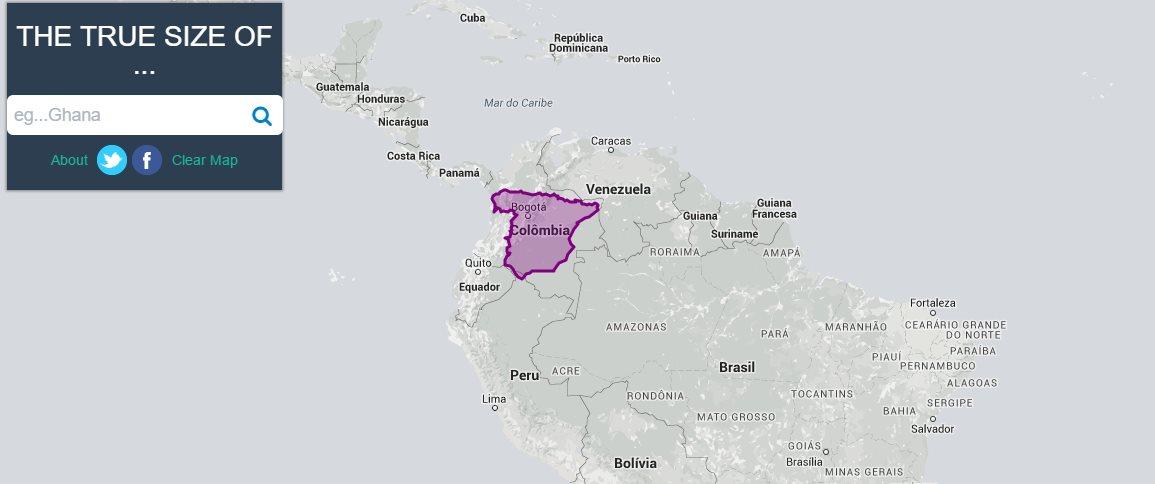 thetruesize, una aplicación para comparar el tamaño de los países