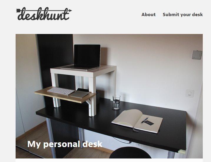 Ejemplo de mesa publicada en deskhunt.com