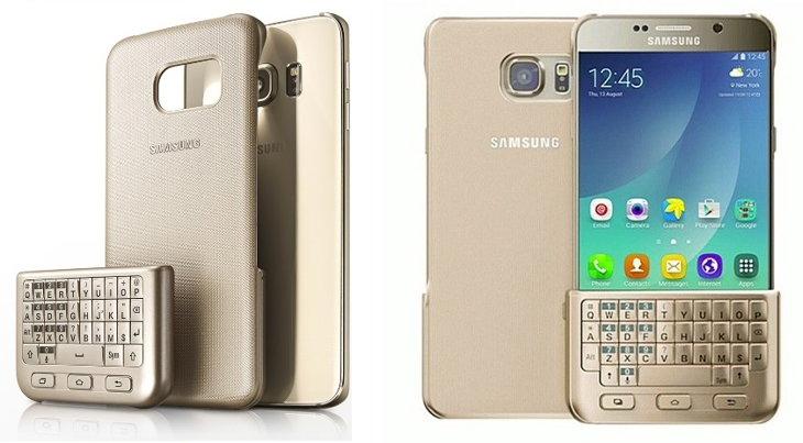 La nueva carcasa con teclado físico del Samsung Galaxy S6 Edge+ y el Galaxy Note 5
