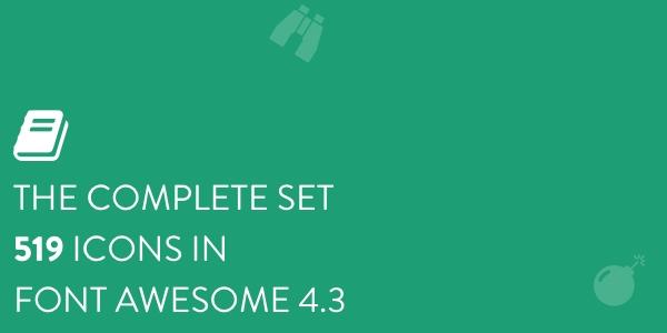 FontAwesome 4.3: Set Completo De 519 Iconos Fuente