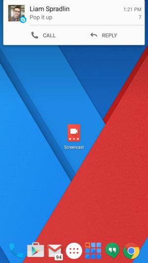 notificaciones skype android