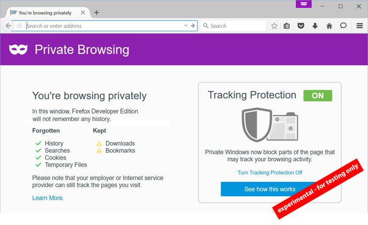 nuevo firefox privacidad