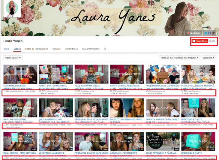 Laura Yanes Youtube