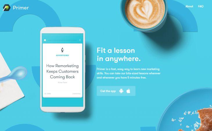 Primer, aplicación para el aprendizaje de marketing, se actualiza con nuevas lecciones y otras mejoras