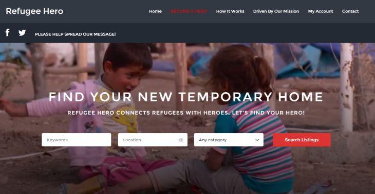 """Lanzan Refugee Hero, el """"Airbnb"""" para acoger temporalmente a refugiados sirios"""