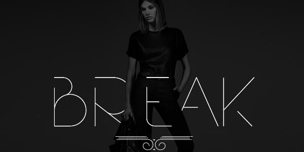 Break: Una Fuente De Linea Ultra Delgada Para Moda Y Diseño