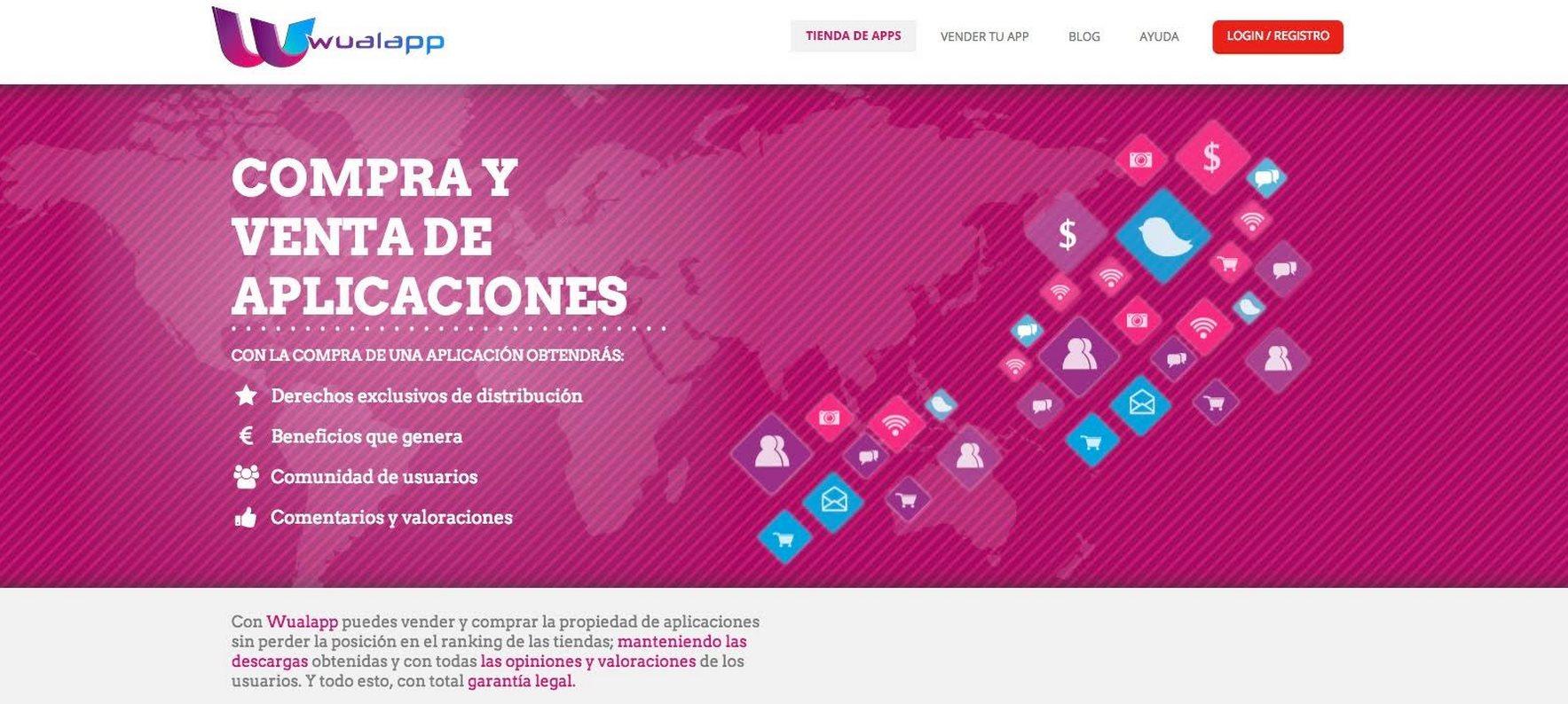 Wualapp ofrece 99 euros a los desarrolladores que registren allí sus apps