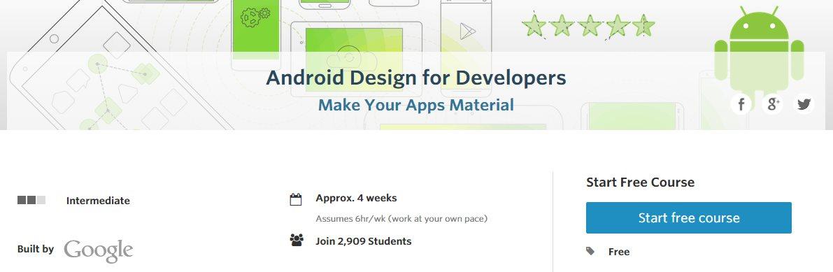 Curso online gratuito de Google sobre Material Design