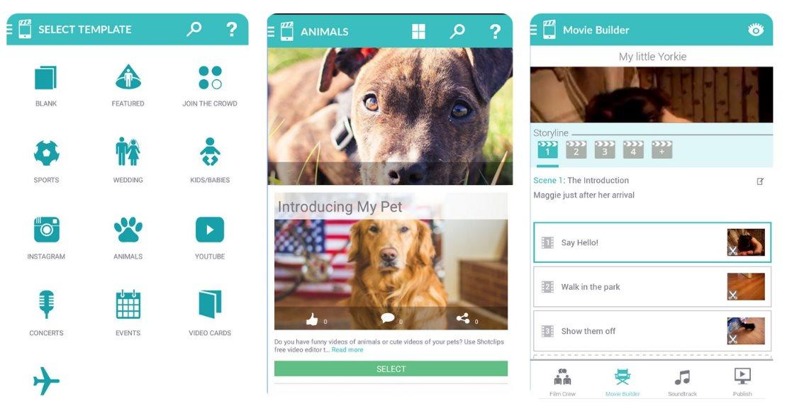 ShotClip, para crear un vídeo entre varias personas, desde web y móvil