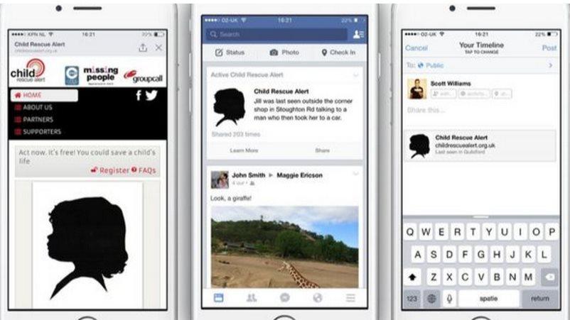 Facebook comienza a mostrar alertas de niños desaparecidos en el Reino Unido