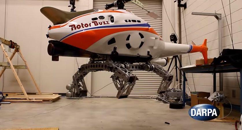 Helicópteros con patas como insectos, lo nuevo de DARPA