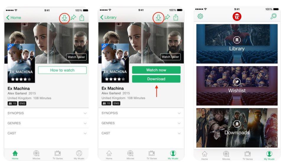 Wuaki, la competencia de Netflix, ya ofrece la posibilidad de bajar películas y series