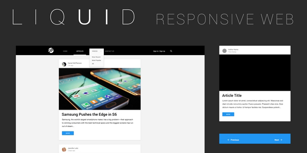 Liquid: Un Kit De Elementos De Interfaz  Web Para Varios Tipos De Dispositivos