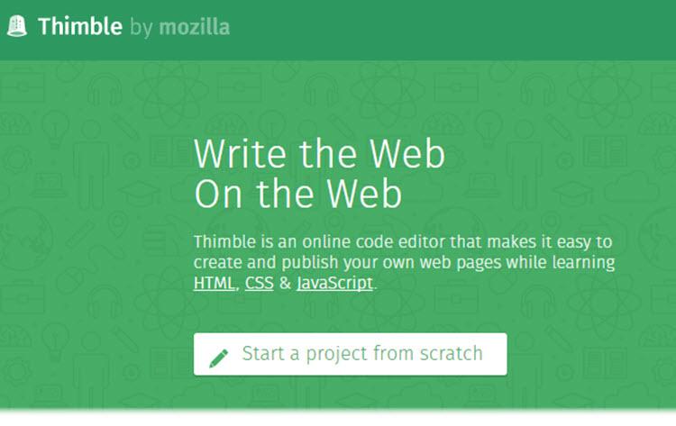 Mozilla presenta una nueva versión de Thimble, su herramienta de creación web