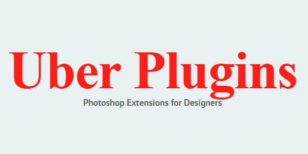 UberPlugins: Un Set De Plugins De Photoshop Para Diseñadores