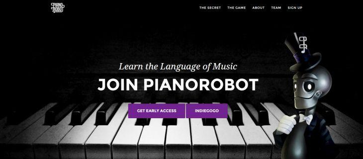 Pianorobot, juego móvil para aprender a tocar el piano