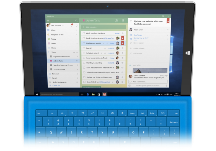 Wunderlist-Windows10