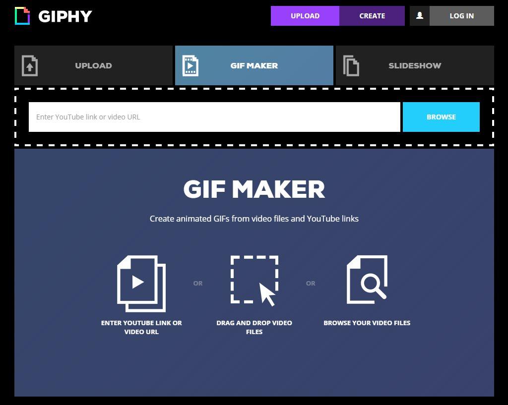 giphy presenta un sencillo creador de animaciones