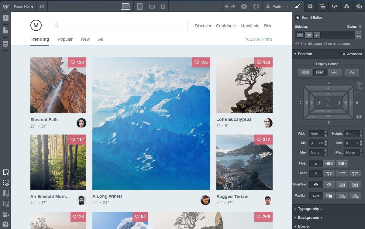 webflow, la herramienta para crear sitios de forma visual, ahora es un CMS