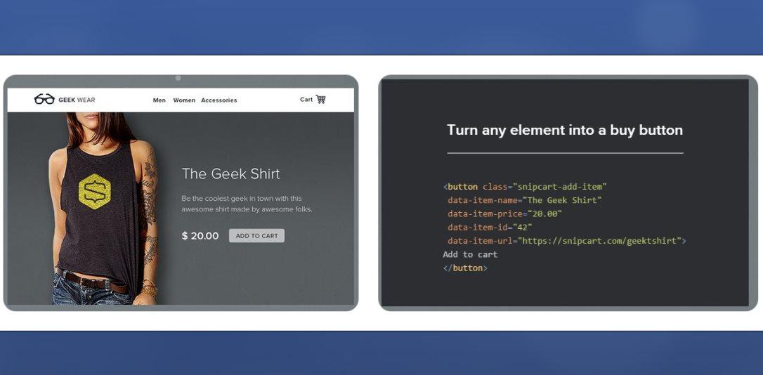 snipcart, una práctica forma de añadir un carrito de compras en tu sitio web